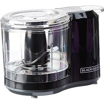 black+decker HC3061–1/2-cup con un solo toque eléctrico picadora, color blanco, Capacidad de 1.5 tazas con ensamble mejorado y tapa, Negro, 1.5_cup, 1