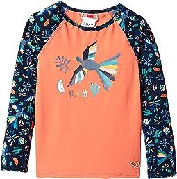 Roxy Kids - Birdy Fashion Lycra Rashguard (Toddler/Little Kids)