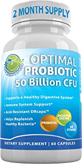Sponsored Ad - Probiotic 50 Billion CFU, Prebiotic, Digestive Enzymes, 2 Month Supply, 60 DRcaps for Men and Women Healthy...