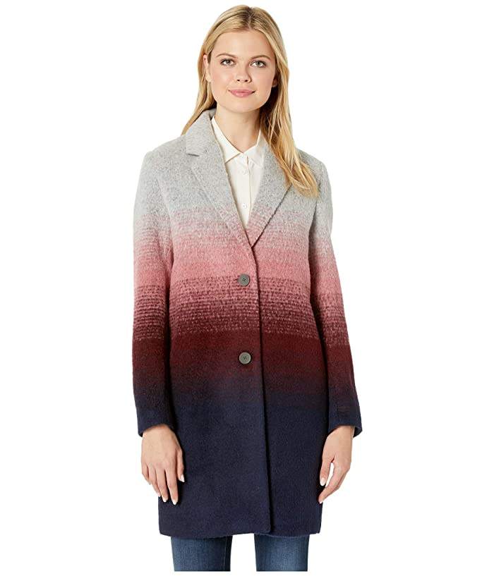 Marc New York by Andrew Marc Bellaire Ombre Wool Two-Button Notch Collar (Grey Combo) Women