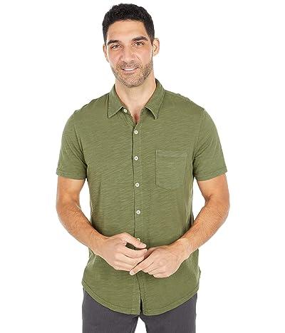 Mod-o-doc Montana Short Sleeve Button Front Shirt (Cypress) Men