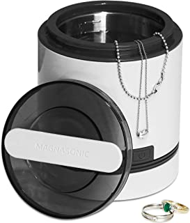 Magnasonic Ultrasonic Dental & Jewelry Cleaner Machine, Compact 7 oz. (220 ml) Tank, Professional Strength Cleaning of Dentures, Retainers, Razors, Rings, Necklaces, Coins, Tools & Parts (UC21).