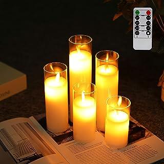 JHY DESIGN 5個セット LED キャンドルライト 電池式 揺れる ろうそくライト 専用リモコン付き 自動消灯 ロウソク 雰囲気ライト 結婚式 誕生日 室内 室外飾り
