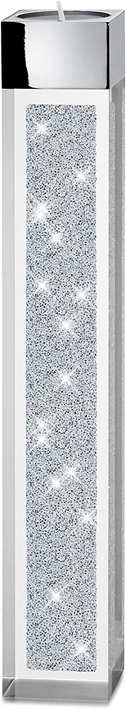 My IMPLEXIONS Moderner Teelichthalter Pylon gro mit Swarovski Elements Kristallen Besondere Tisch-Dekoration