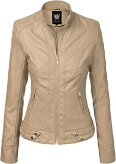customers first factory price shop for genuine Amazon.com: Beige Women's Leather Jackets