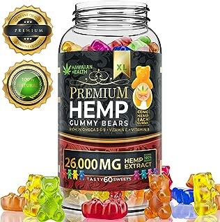 Hemp Gummies 26.000 MG Premium - 433 Per Fruity Gummy Bear with Organic Hemp Oil | Natural Hemp Candy Supplements for Pain, Anxiety, Stress & Inflammation Relief | Promotes Sleep & Calm Mood