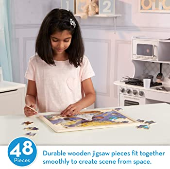 Melissa & Doug 48pc Space Voyage Wooden Jigsaw Puzzle