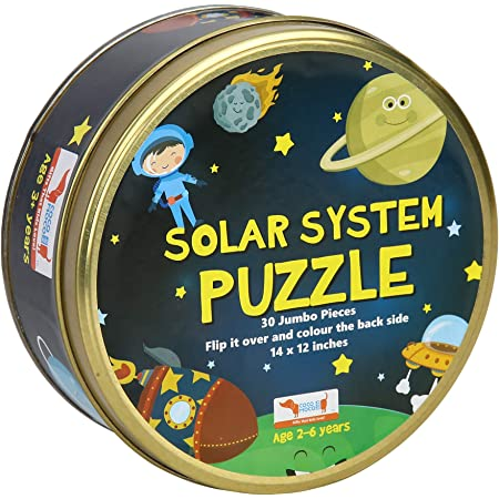 CocoMoco Kids Solar System Puzzle 30 Pcs Educational Toy - Space Puzzles for Kids Ages 2-6 Year Old Boys Girls Return Gift Jigsaw Puzzles of Planets, Universe