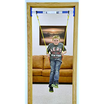 RAINY DAY Swing Set Kids Therapy | Doorway Swing Kit | Indoor Playroom Swing Starter Kit (Support bar is Included)