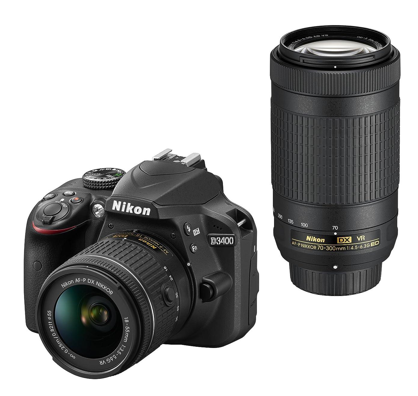 招待マルコポーロ下にNikon デジタル一眼レフカメラ D3400 ダブルズームキット ブラック D3400WZBK