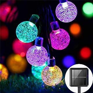 Solar Fairy Lights Outdoor Waterproof, 50LED Solar Garden Lights, 8 Mode 7M/24Ft Indoor/Outdoor Solar String Lights for Ga...