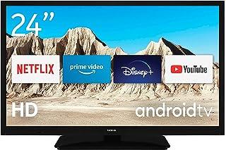 Nokia Mini Smart TV 2400A, 24 pulgadas, 60 cm, Android TV, HD ready, 12V, WLAN, DVB-C/S2/T2, Netflix, Prime Video, Disney+