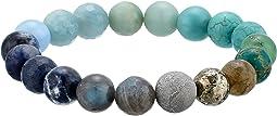 Ombre Chakra Gemstone Beaded Bracelet
