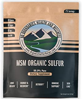 MSM Organic Sulfur Crystals by No Boundaries Health and Wellness � All-Natural, Premium Health Supplement: 99.9% Pure MSM � Benefits: Joint Pain, Allergies, Skin, Hair & Nail Health � No Fillers