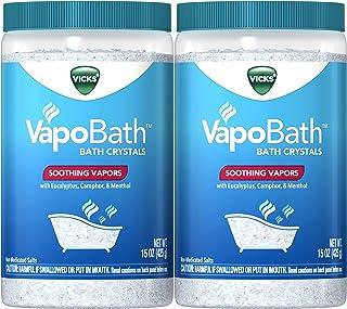 Vicks VapoBath, Bath Crystals, Bath Bomb, Non-Medicated Bath Salts, Soothing Vicks Vapors Steam Aromatherapy with Eucalypt...