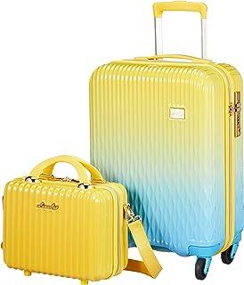 [シフレ] スーツケース ハードジッパー 小型 Sサイズ 1年保証付き LUN2116-48 機内持ち込み可 32L