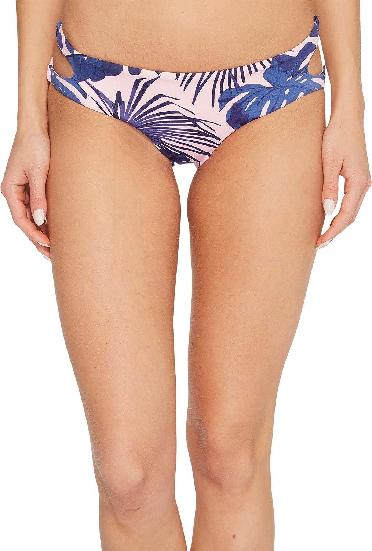 Bikini Lab Women's Cut Out Hipster Bikini Swimsuit Bottom, Light Pink, Large