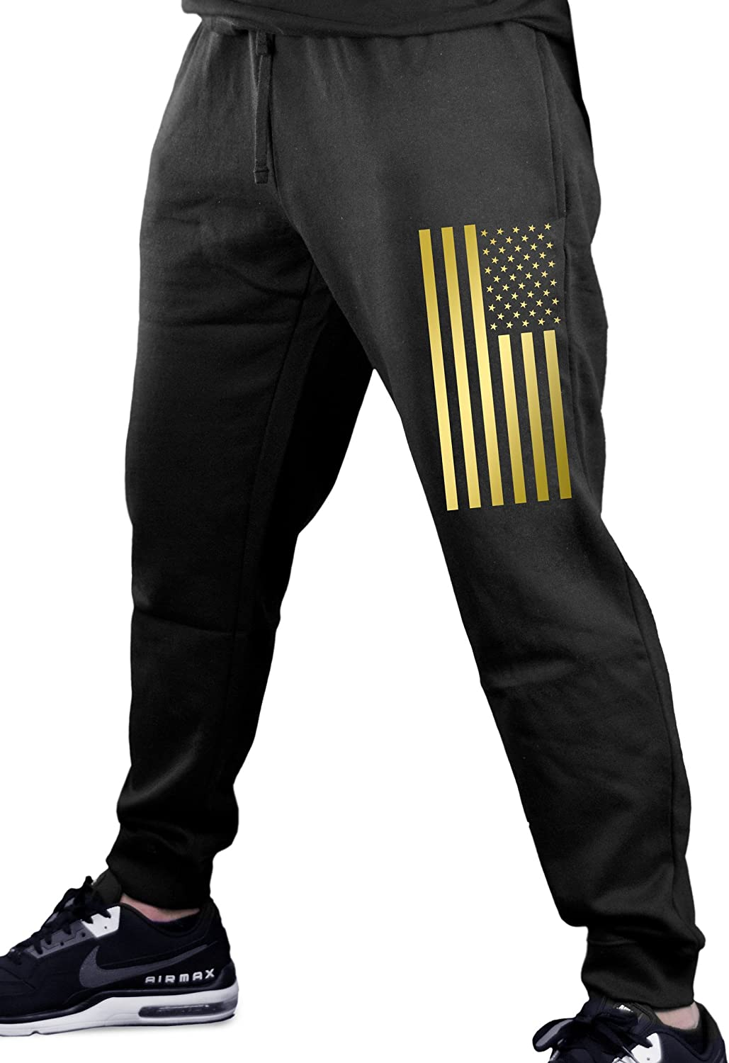 Easy-to-use Interstate Apparel Reflective Gold US Black Fleece Flag Gy Direct store Men's
