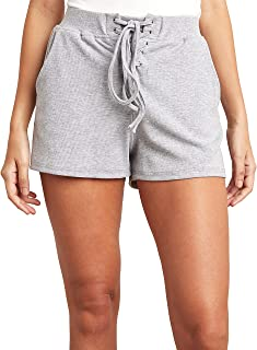 Lace Up Front Runner Shorts 80389414 For Women Closet by Styli