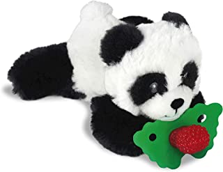 RaZbaby RaZbuddy RaZberry Teether/Pacifier Holder w/Removable Baby Teether Toy - 0M+ - Bpa Free - Panda