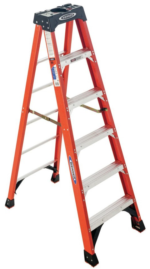 Shop Werner 6-ft Fiberglass 300-lb Type IA Step Ladder at Lowes.com