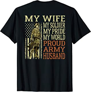 My Wife My Soldier Hero Proud Army Husband Shirt Spouse Gift