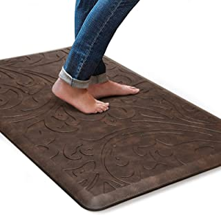 KMAT Kitchen Mat Cushioned Anti-Fatigue Floor Mat Waterproof Non-Slip Standing Mat Ergonomic Comfort Floor Mat Rug for Hom...