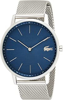 Lacoste Moon Men's Blue Dial Stainless Steel Band Watch