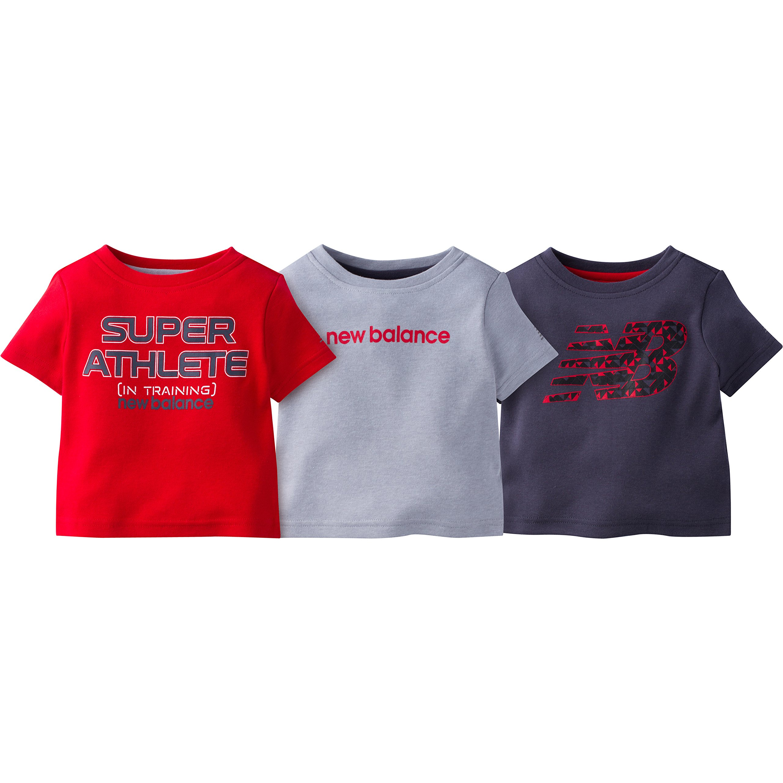 ニューバランスボーイズ3ピースパターンTシャツ