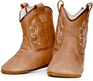 MAMTAKON Real Leather Soft Sole Cowboy Boots for Baby Infant Toddler Boys Girls Newborn Crib Prewalkers Or Special Occasion