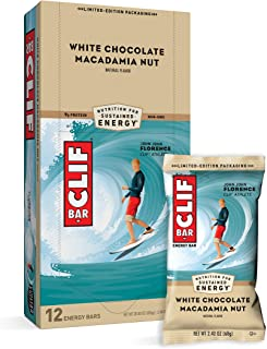 CLIF BARS - Energy Bars - White Chocolate Macadamia Nut Flavor - Made with Organic Oats - Plant Based Food - Vegetarian - ...