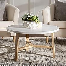 غرفة معيشة للطاولة بتصميم عصري من خشب البلوط مقاس منتصف القرن طراز AZF30EMCTLO من Walker Edison Furniture Company، بلون ال...