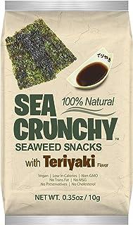 Sea Crunchy Roasted Seaweed Snack with Teriyaki (Pack of 24)