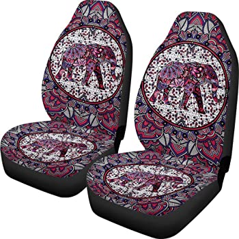 Sedan Van PZZ Africa Tribal Classic Ethnic Universal Bucket Seat Cover Pack of 2 Fit Most Vehicle SUV Cars Truck