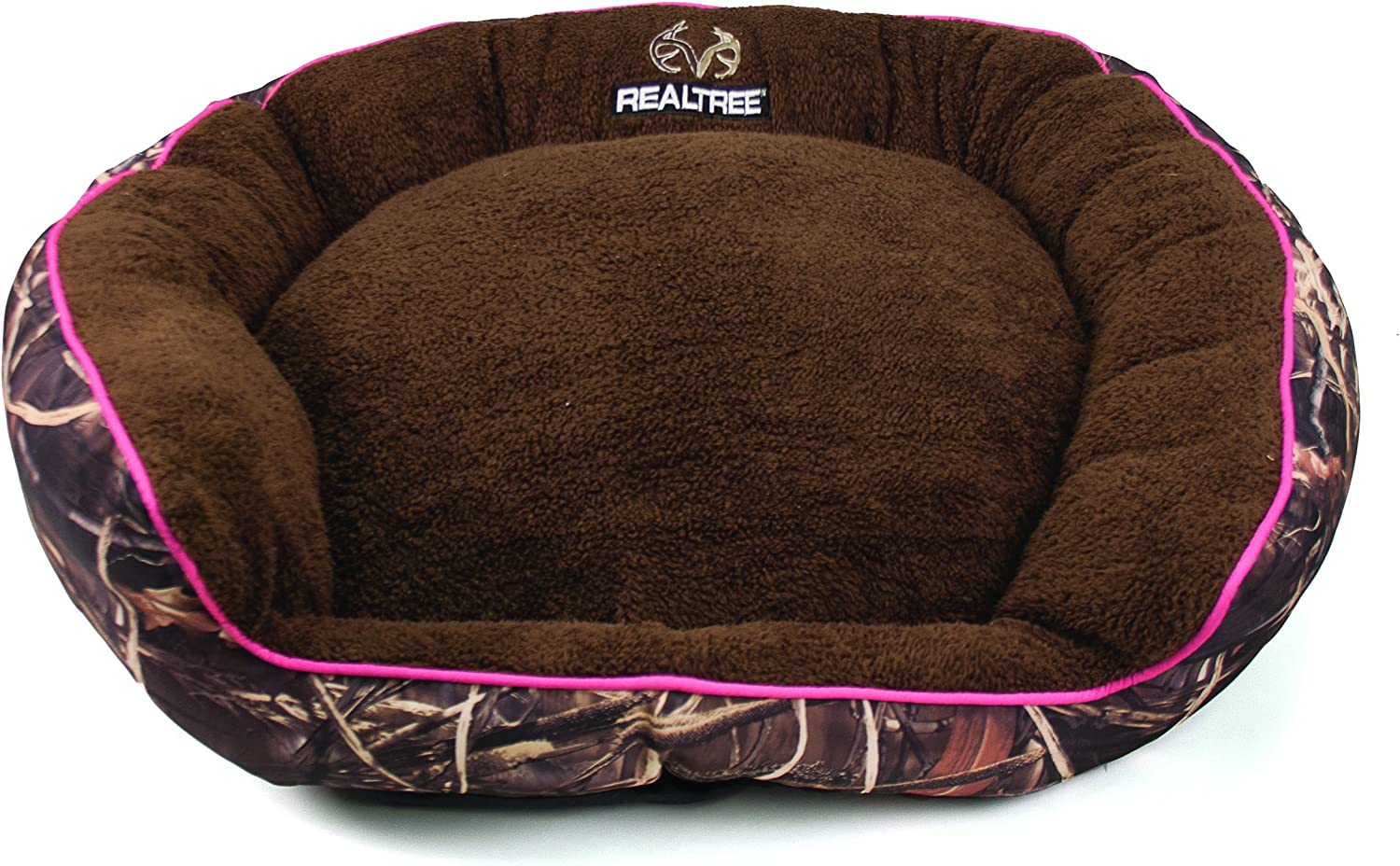 Realtree Large Camo Bolstered Pet Bed