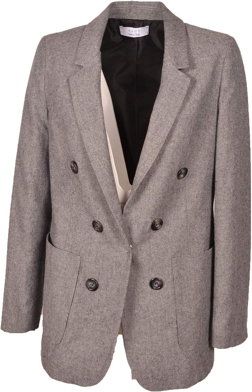 Kaos Women's GI1CO05500 Grey Wool Blazer