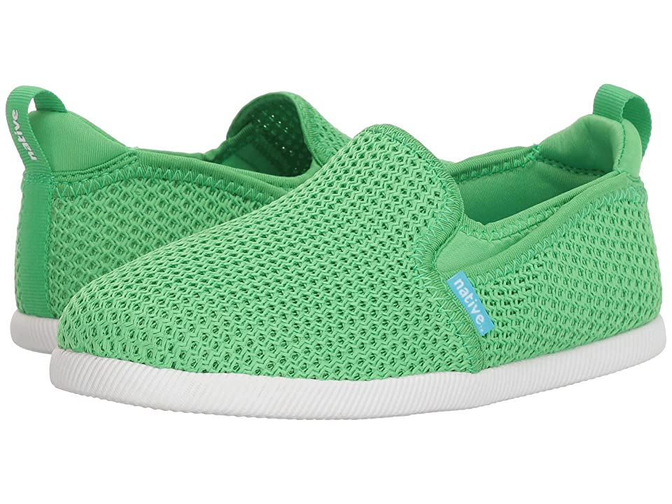 Native Kids Shoes Cruz (Little Kid) (Grasshopper Green/Shell White) Kids Shoes