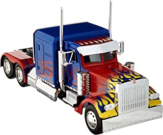 Optimus Prime Truck with Robot on Chassis from Transformers Movie Hollywood Rides Series Diecast Model by Jada 30446
