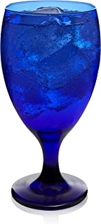 Libbey Premiere Cobalt Iced Tea Goblet Beverage Glasses, Set of 12