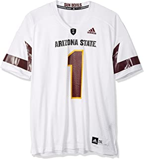 adidas Mens NCAA Replica Football Jersey 7661 DV, White, XX-Large