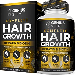 Hair Growth Supplement for Men & Women - DHT Blocker Support to Prevent Hair Loss & Thinning - Hair Vitamins with Biotin &...