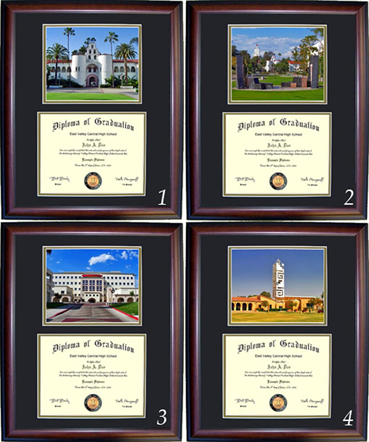 San Diego State Diploma Frame Free Shipping New and Selling Cherry Wood with Photo