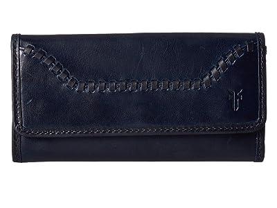 Frye Melissa Large Zip Wallet (Navy Antique Pull Up) Wallet Handbags