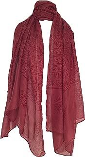 Yak & Yeti womens Om Mantra Scarf maroon One Size