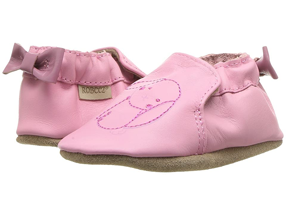 Robeez Sweet Bunny Soft Sole (Infant/Toddler) (Pastel Pink) Girl