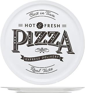 Cosy & Trendy 4562420hot-fresh Pizza plato, cerámica, Blanco, 30 cm