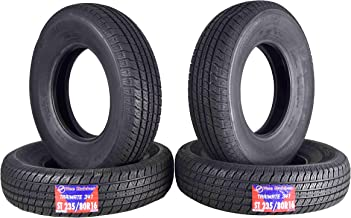 NEW ST235/80R16 Trailer Tire Traimate 8 Ply Radial 235/80-16 All-Weather Tire Load Range D (4 x 235/80R16 Trailer Tire)