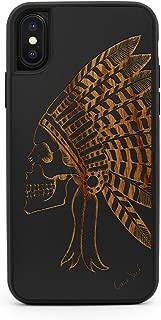 CaseYard iPhone X/Xs Case, Premium Hybrid Protective iPhone X/Xs Case for Apple iPhone X/Xs Made in California (iPhone X/Xs Reg-Protective)(Black) Chief Skull