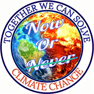 Climate Change Bumper Sticker - Save Our World Home Large Premium Vinyl Save The Earth Sticker Go Green Decal Recycle Stickers for Trash Cans & Cars Sticks Anywhere Save Our Planet Decals 3