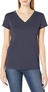 Lark & Ro Camiseta de algodón Pima Camiseta para Mujer